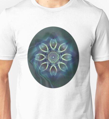 Blue Tone Fractal Unisex T-Shirt