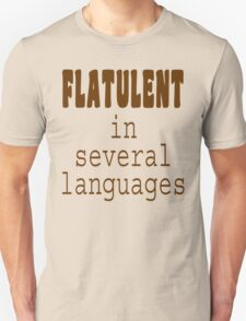 Flatulent In Several Languages T-Shirt