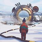 The Course Start by Simon Stålenhag