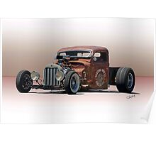 Rat Rod Pickup 'Life in the Low Lane' Poster