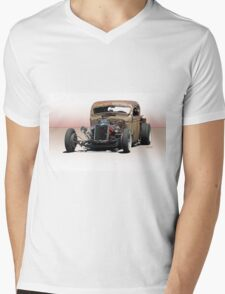 Rat Rod Pickup 'Hemified' Mens V-Neck T-Shirt
