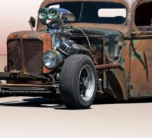 Rat Rod Pickup 'Evil Eyes' Sticker