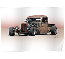 Rat Rod Pickup 'Evil Eyes' Poster