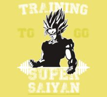 TRAINING TO GO SUPER SAIYAN (WHITE EDITION) Kids Clothes