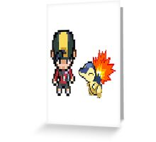 Johto and Cyndaquil (HGSS) Greeting Card