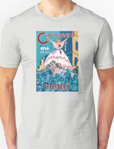 Panama Carnival Vintage Travel Poster Restored Unisex T-Shirt