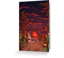 Mystical Space Coyote Greeting Card