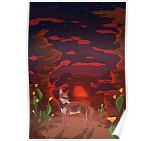 Mystical Space Coyote Poster