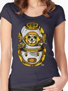 Diving Helmet Women's Fitted Scoop T-Shirt