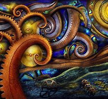 Steampunk - Starry night by Mike  Savad