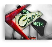 capri hotel, route 66 Metal Print