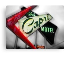 capri hotel, route 66 Canvas Print