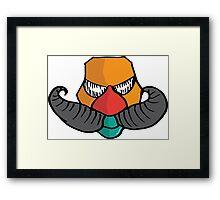 ~ mustache' Framed Print
