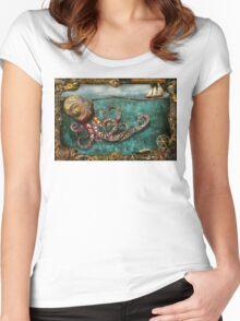 Steampunk - The tale of the Kraken Women's Fitted Scoop T-Shirt
