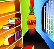 Study room with lot of books by tillydesign
