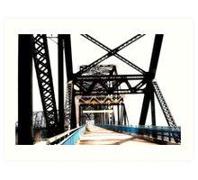 chain of rocks bridge, route 66 Art Print