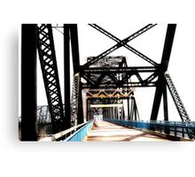 chain of rocks bridge, route 66 Canvas Print