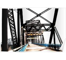 chain of rocks bridge, route 66 Poster