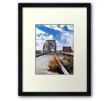 rio puerco bridge, route 66, new mexico Framed Print