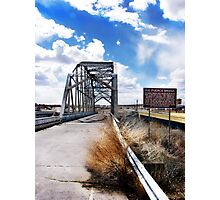 rio puerco bridge, route 66, new mexico Photographic Print