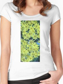 Yellow Blossoms Collection Women's Fitted Scoop T-Shirt