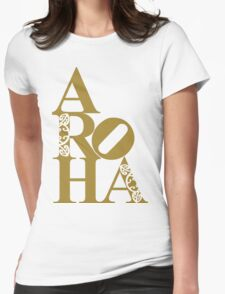 Aroha (love) for the people Womens Fitted T-Shirt