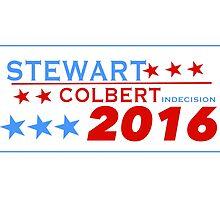 Stewart/Colbert 2016 by Jack Rinderknecht