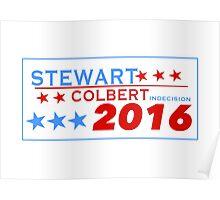 Stewart/Colbert 2016 Poster