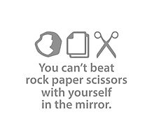 You Can't Beat Rock Paper Scissors Photographic Print