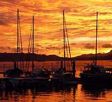 Sunset at Langkawi Harbour, Malaysia by ange2