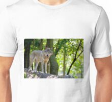Timber Wolf on Rocks Unisex T-Shirt