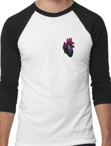 Bisexual Pride Heart (with Black detail) Men's Baseball ¾ T-Shirt