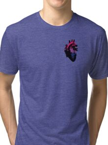 Bisexual Pride Heart (with Black detail) Tri-blend T-Shirt