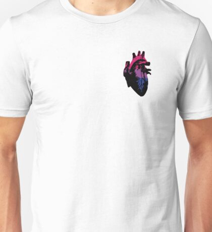 Bisexual Pride Heart (with Black detail) Unisex T-Shirt