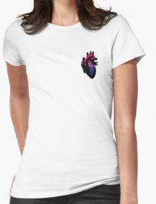 Bisexual Pride Heart (with Black detail) Womens Fitted T-Shirt