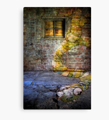 Stoned Worm! Canvas Print