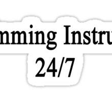 Swimming Instructor 24/7  Sticker