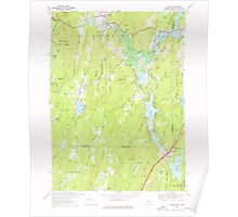 Massachusetts  USGS Historical Topo Map MA Wales 350674 1967 24000 Poster