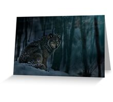 Timberwolf in Moonlight Greeting Card