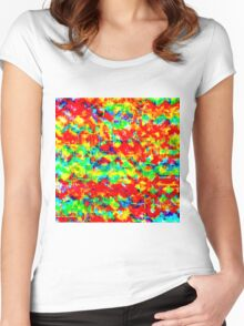 Mixed paint Women's Fitted Scoop T-Shirt