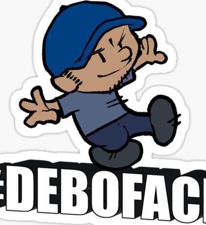 Calvin-Styled #Deboface Sticker