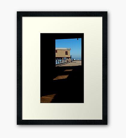 Boat Sheds Framed Print