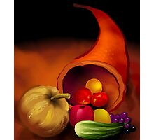 Scattering of fresh vegetables	 Photographic Print