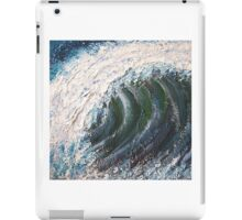 Atlantic roller surfing wave Painting iPad Case/Skin