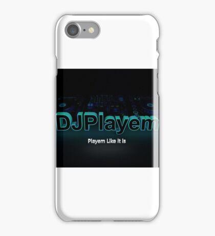 DJPlayem's Banner Logo color iPhone Case/Skin