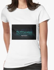 DJPlayem's Banner Logo color Womens Fitted T-Shirt