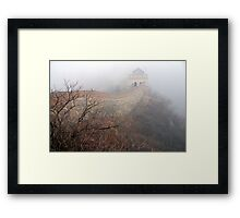 China - The Great Wall in the mist. Framed Print