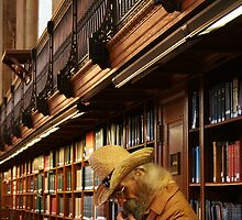 Urban Cowboy, New York Cowboy at New York Library by Jane McDougall