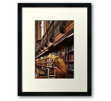 Urban Cowboy, New York Cowboy at New York Library Framed Print