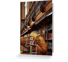 Urban Cowboy, New York Cowboy at New York Library Greeting Card
